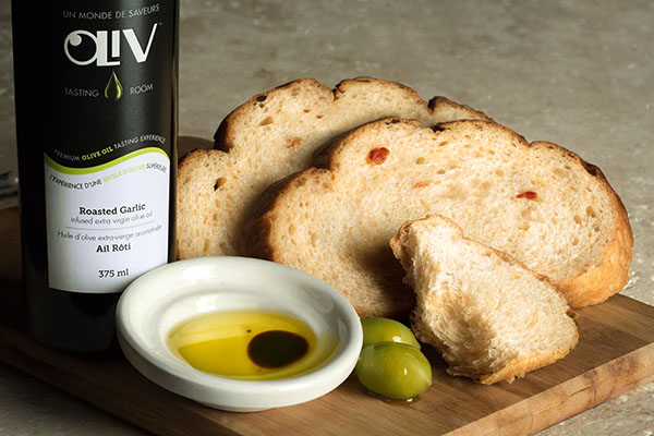 Olive oil with fresh bread