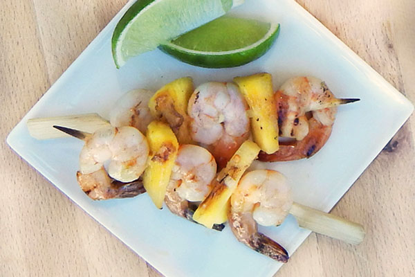 Ginger Lime Shrimp Skewers