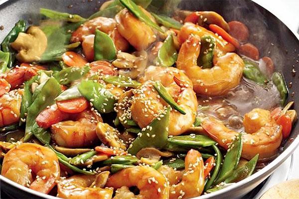Sesame Ginger Shrimp Stir Fry